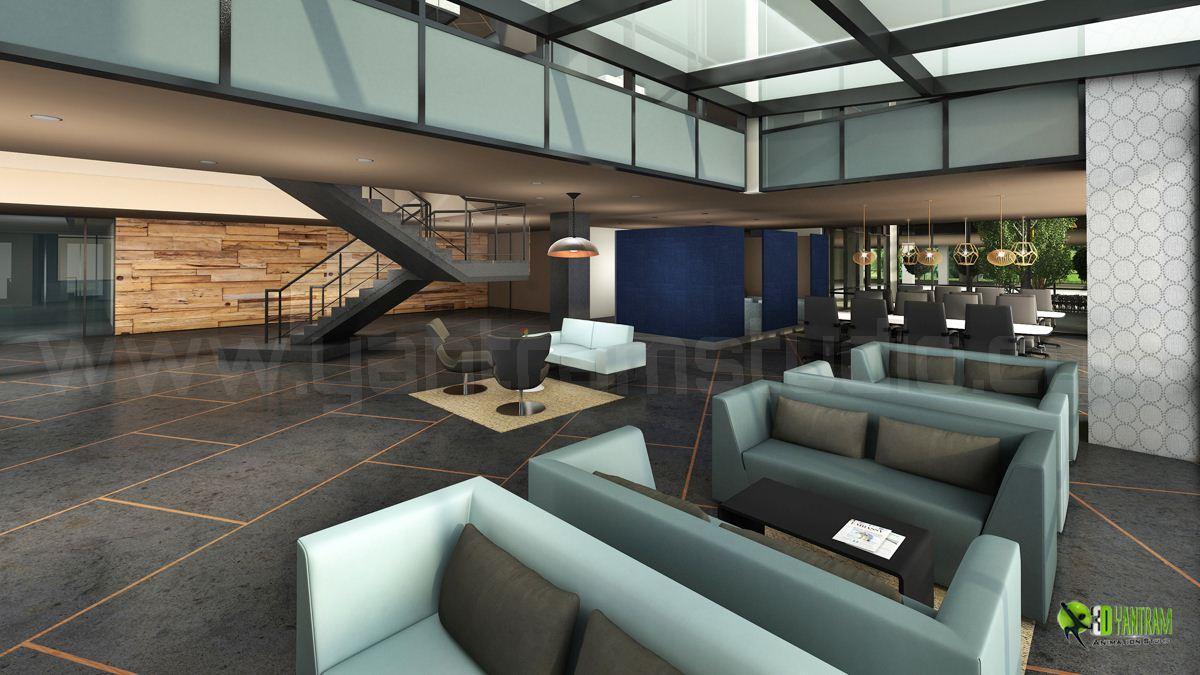 Corporate Office Lobby Interio....
