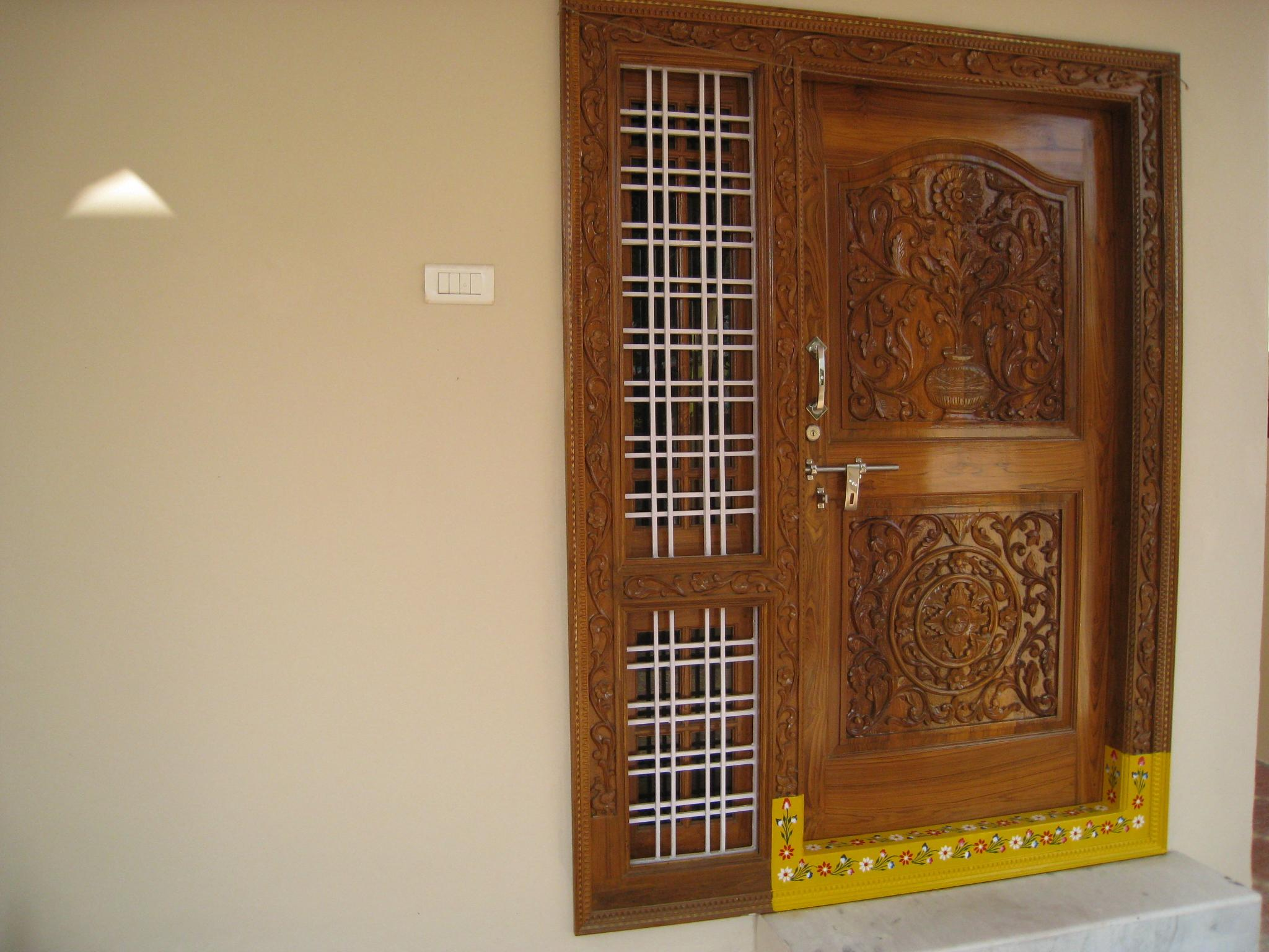 Main door gharexpert for Main door grill design