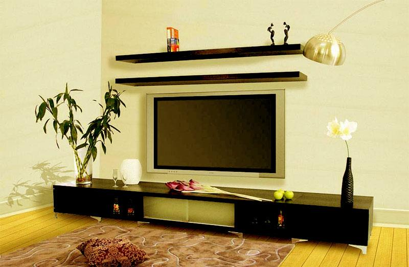 LCD unit with 2 shelves over t....