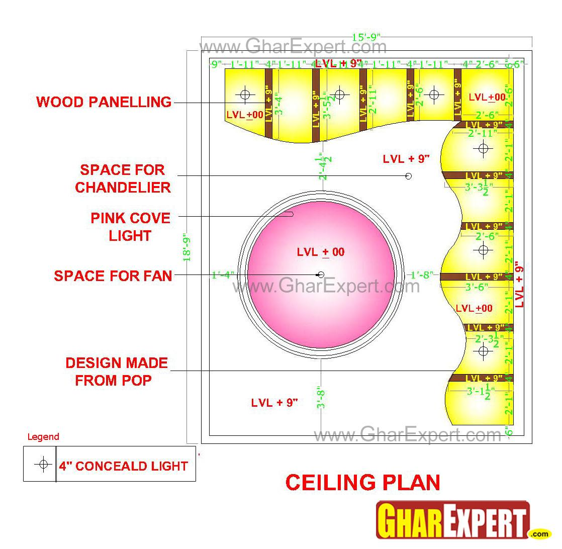 Illuminated POP false ceiling ....