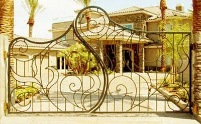 decorative iron gate design