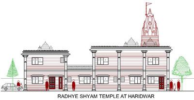 2D drawing temple design