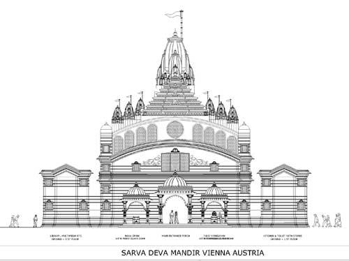 SARAVDEVA Temple design in 2D
