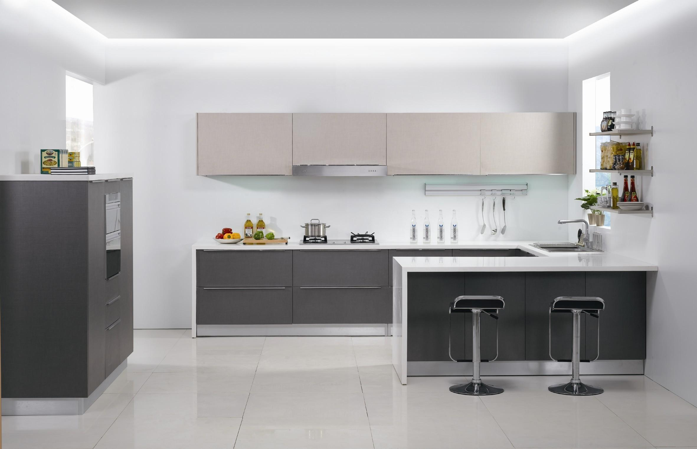 melamine door modular kitchen - GharExpert