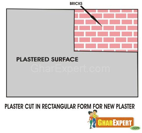 Patch in plaster