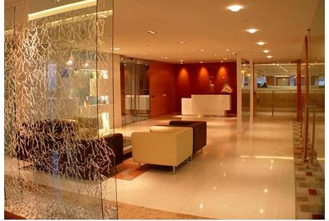 Glass partition living roomgharexpert wall interior design - Partition in interior designing ...