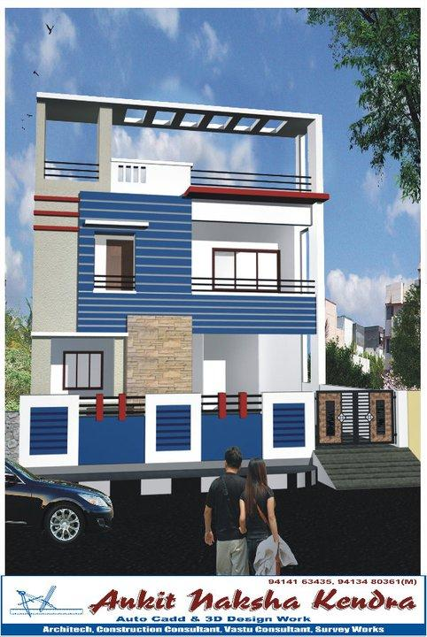 Front Elevation Two Storey Building : D exterior elevation design for story house featuring