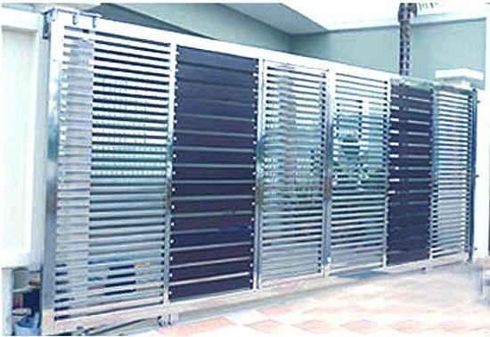 Stainless steel gate design gharexpert for Window gate design