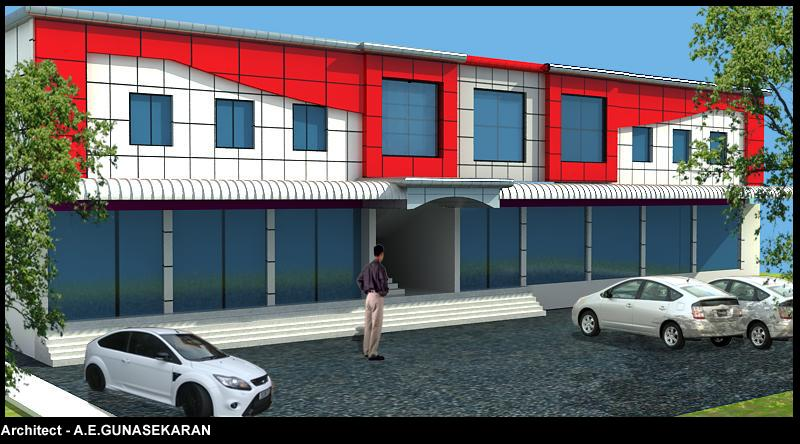 Front Elevation Commercial Complex : D elevation design of commercial complex gharexpert