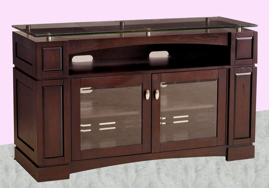 Wooden TV stand with storage d....