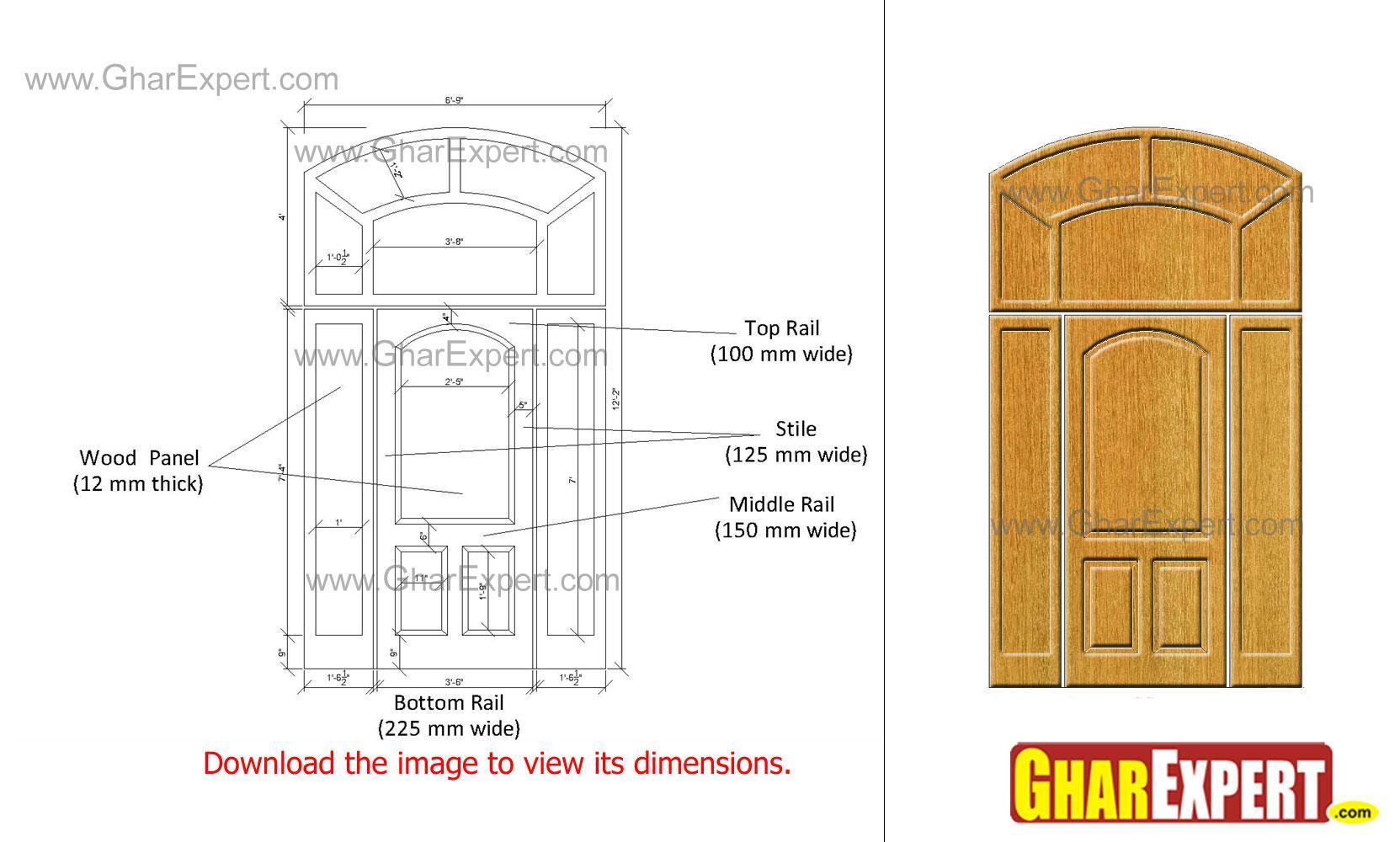 Designer wooden panel door wit....