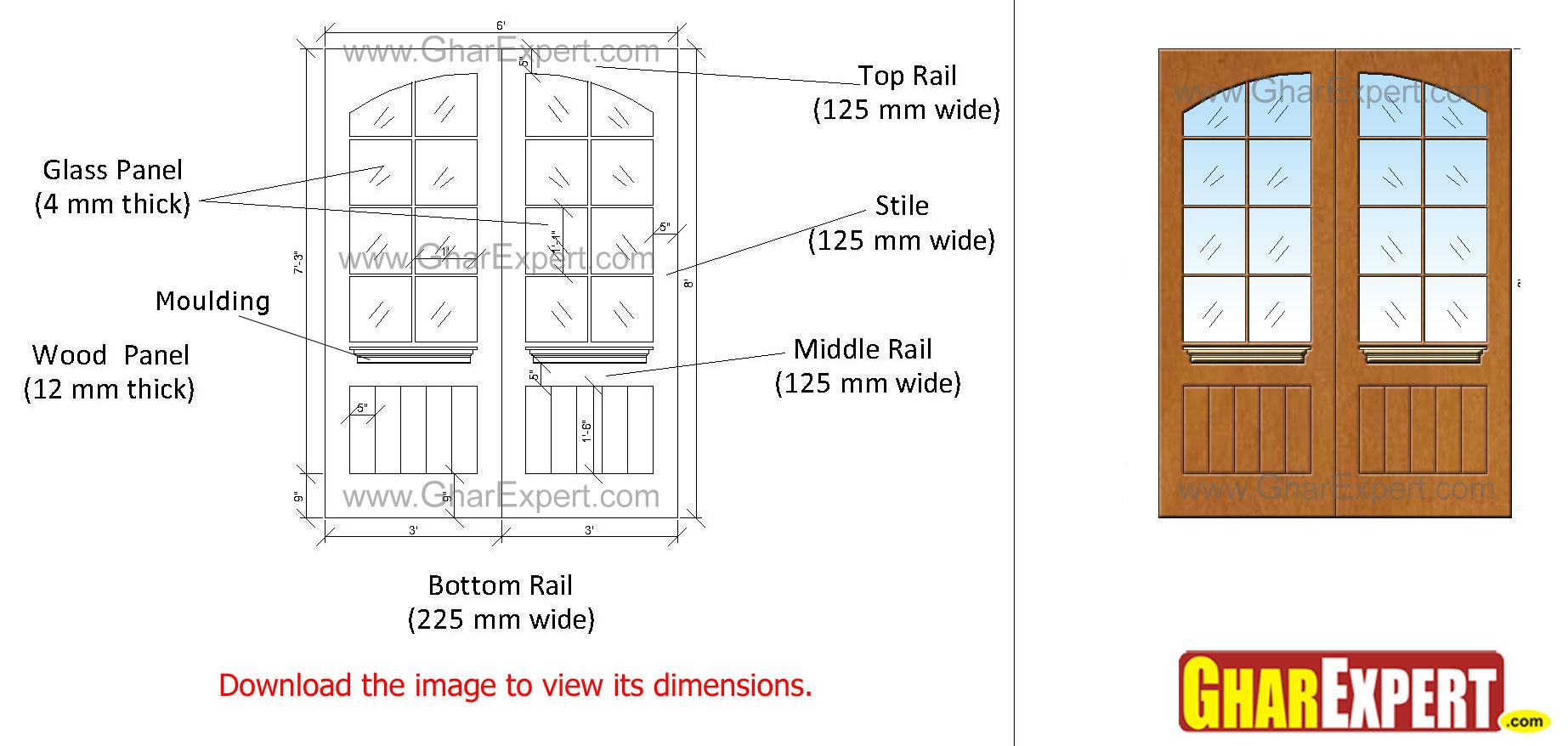 wooden Grooved panel door with....