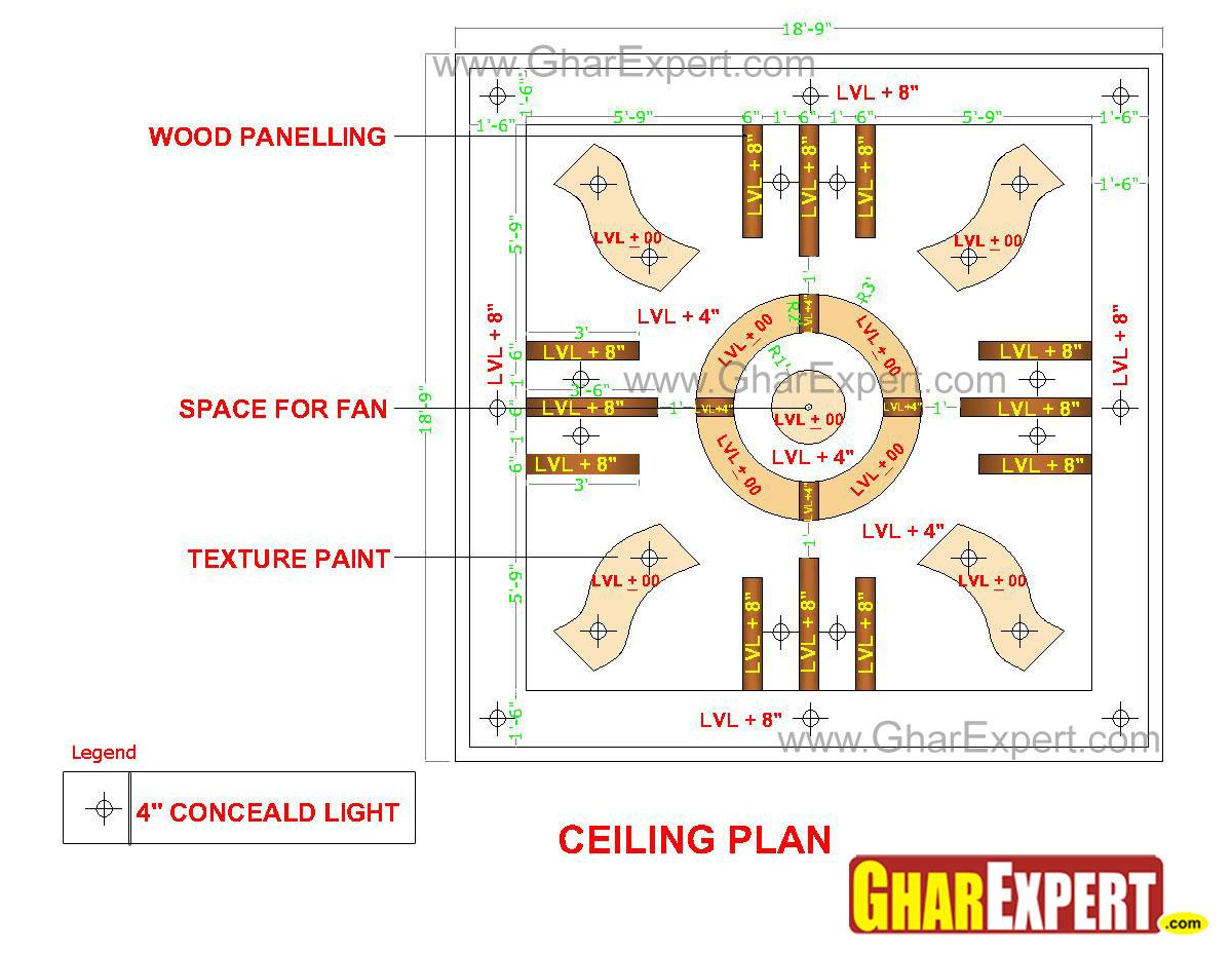 POP false ceiling design with texture and wooden paneling  : 19201350000 from www.gharexpert.com size 1200 x 928 jpeg 126kB