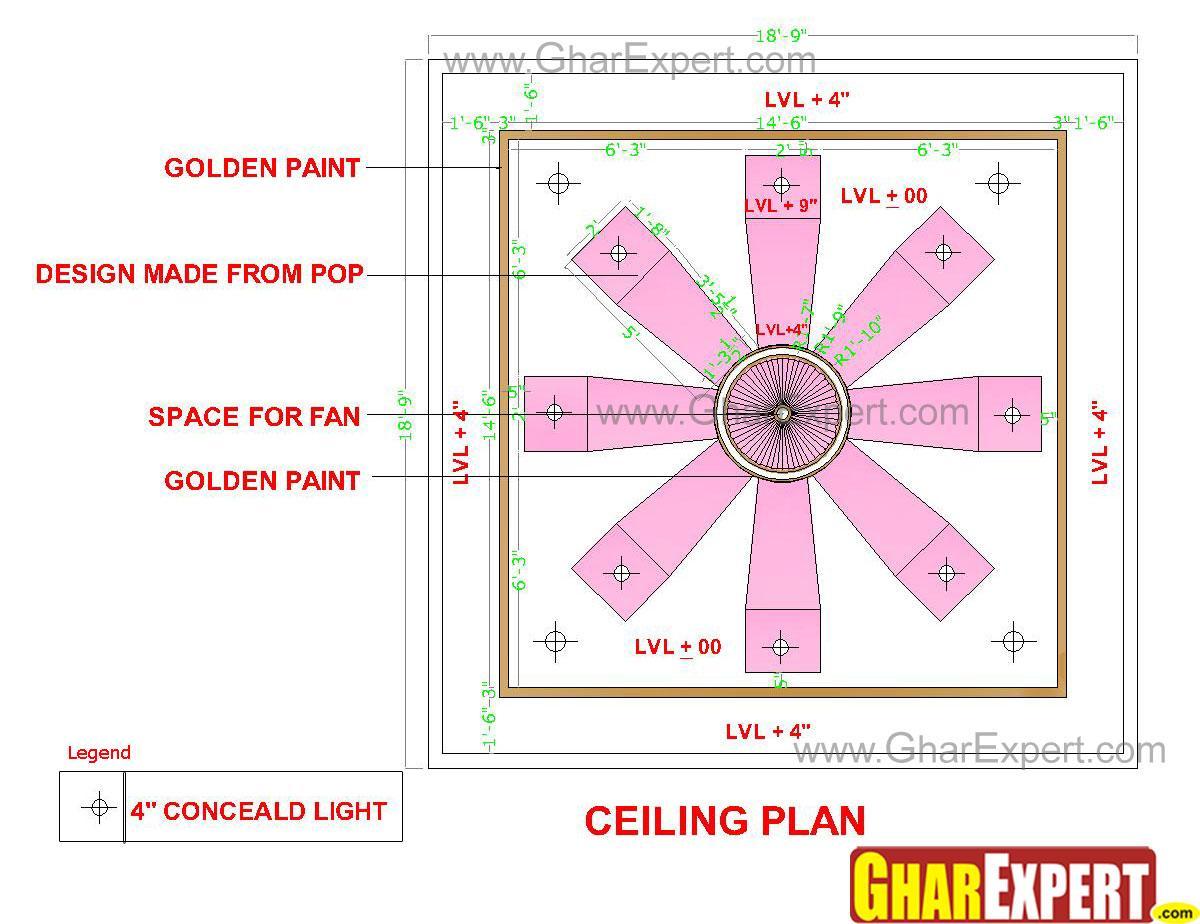 POP false ceiling design for 1....