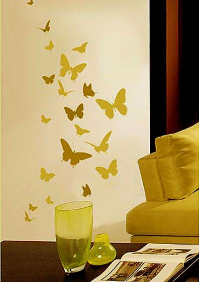 wall stencil butterfly design