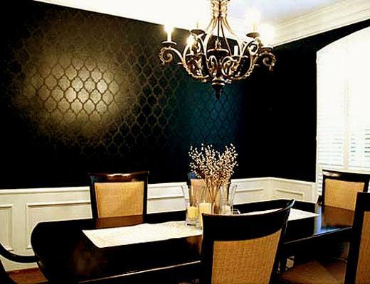wallpaper pattern in black