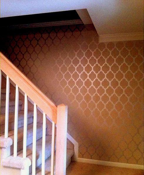 Paint Stencil Textured Wall Gharexpert