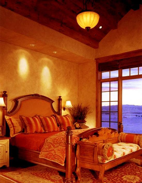 bedroom wall sponge pattern