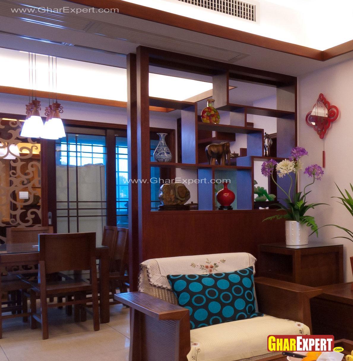 Decorative wooden showcase par....