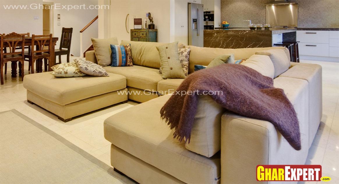Upholstered sectional sofa set....