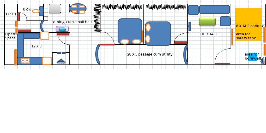 15 X 60 house plan