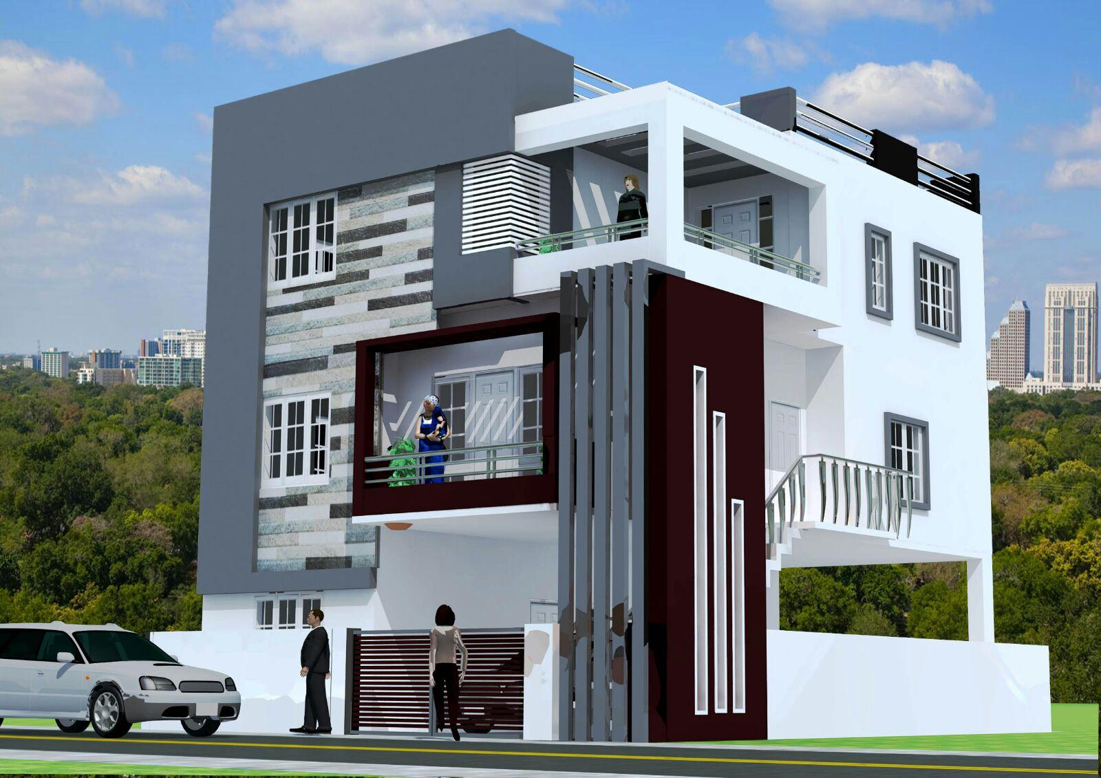Commercial Front Elevation Designs : Commercial building gharexpert