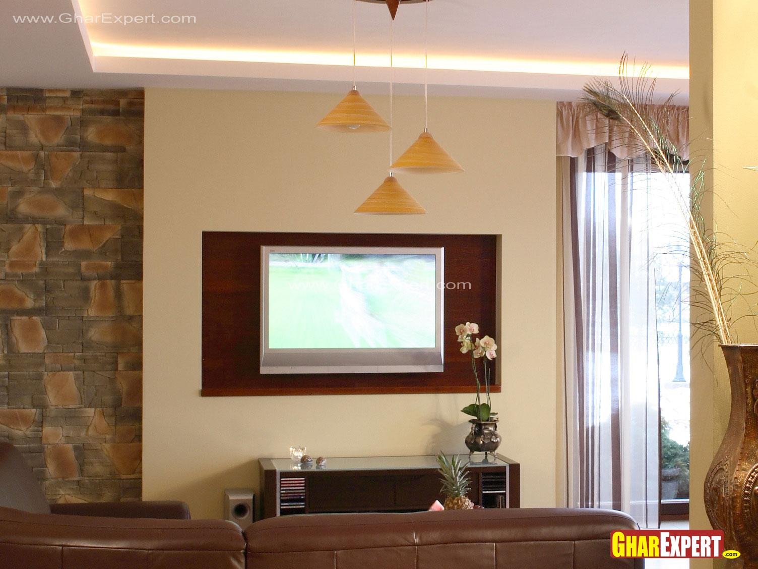 Living Room Lcd Wall Decor Ideas Gharexpert