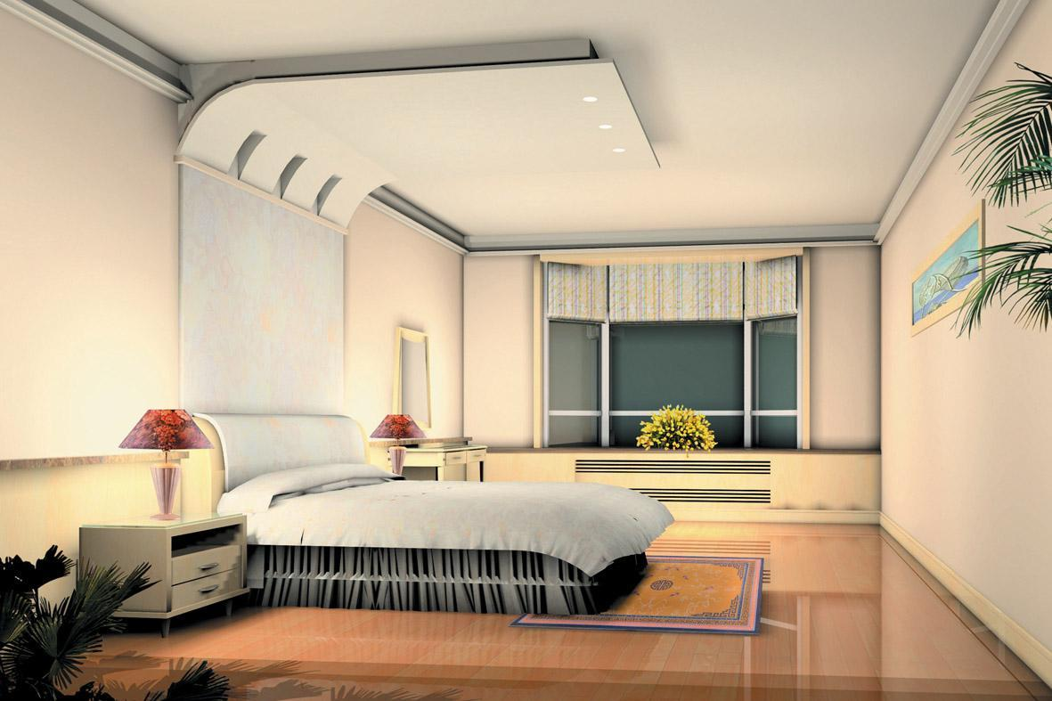 3d bedroom design with dayligh