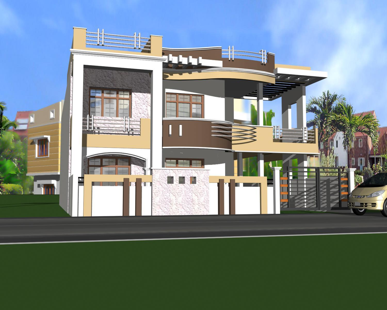 home 3D model design with a be....
