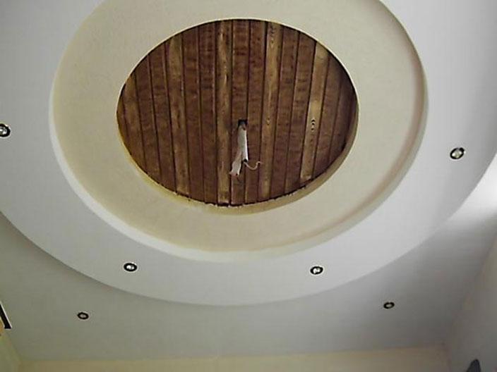 POP And Wooden Ceiling Design GharExpert