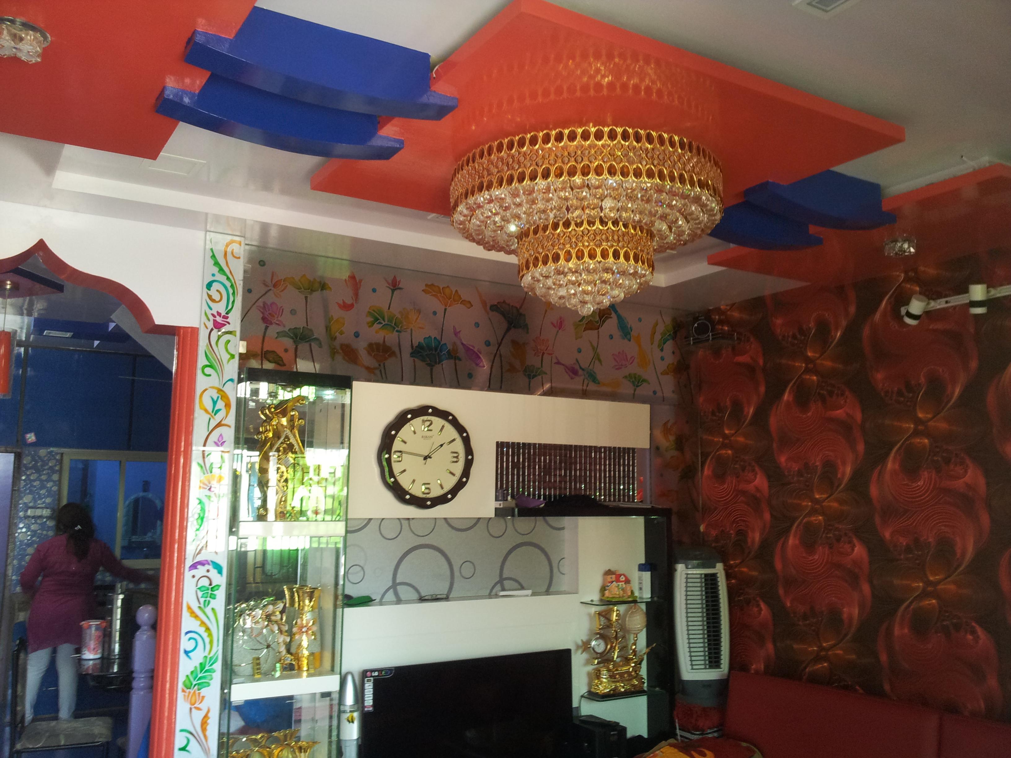 living room celing desine