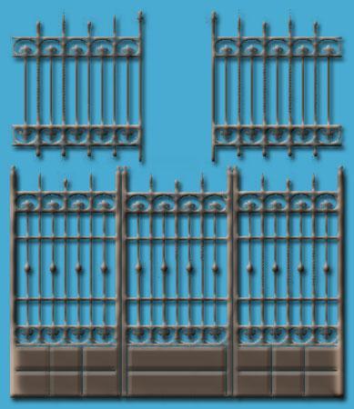 iron fence and gates
