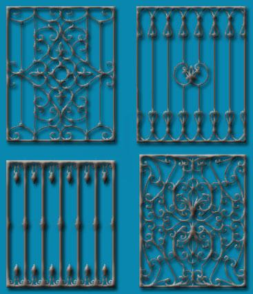 wrought iron fence for exterio....