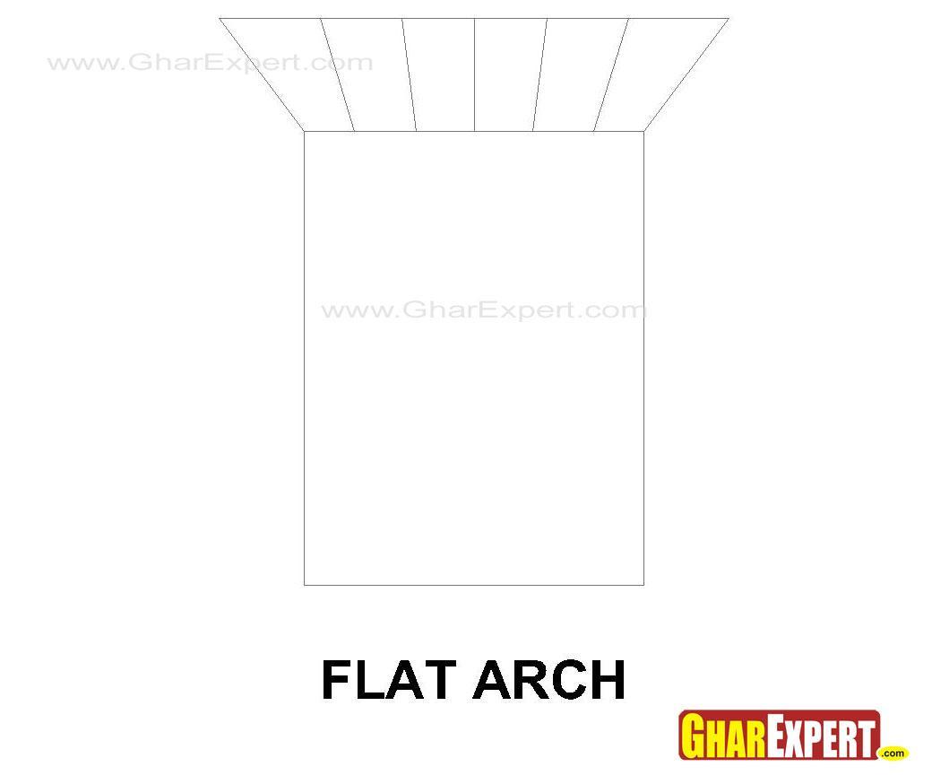 Flat arch