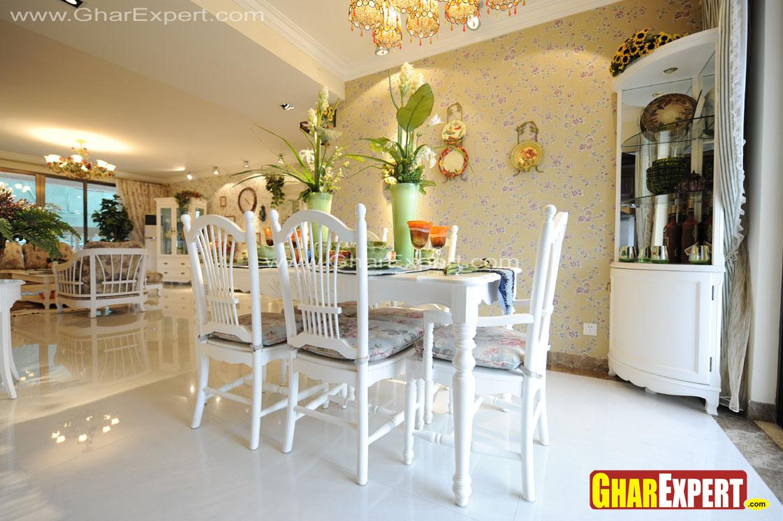 Dining and living room white f....