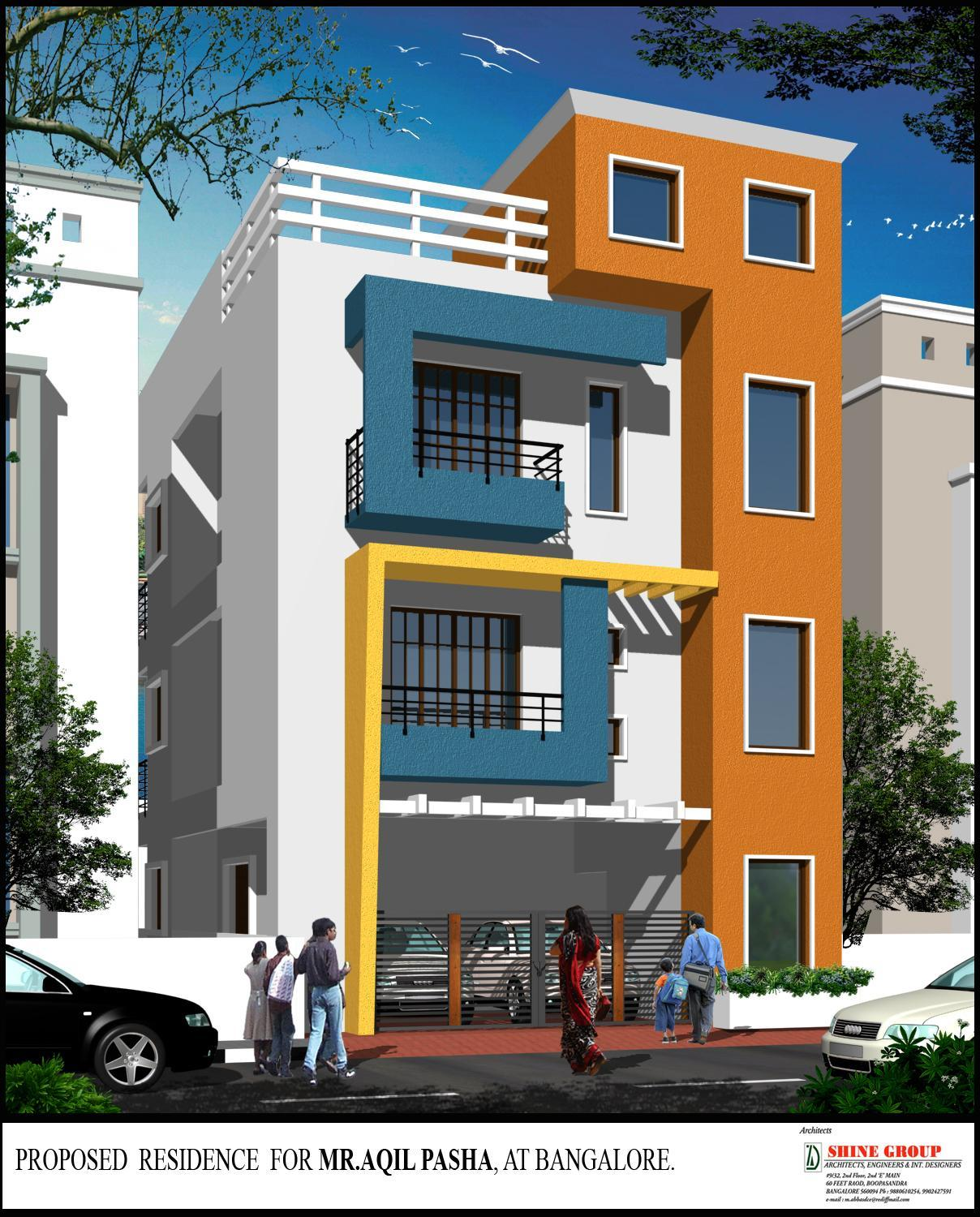 Single Floor Simple Front Elevation : House front design