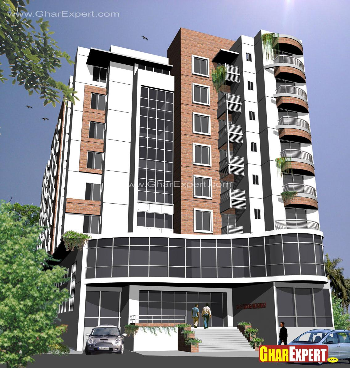 Exterior Elevation For High Rise Building Gharexpert