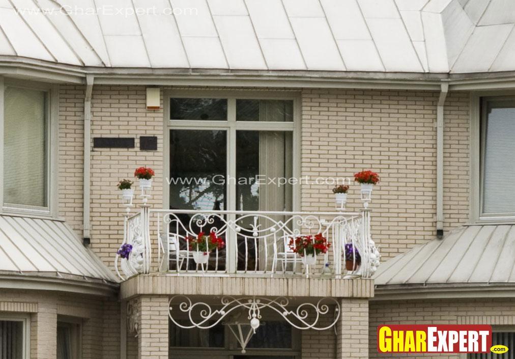 Green balcony for plants