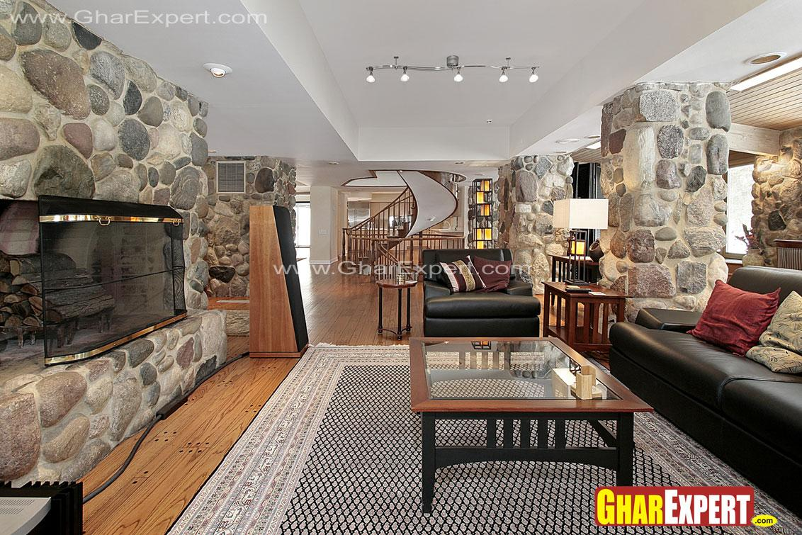 Heavy Stone cladded walls in s....
