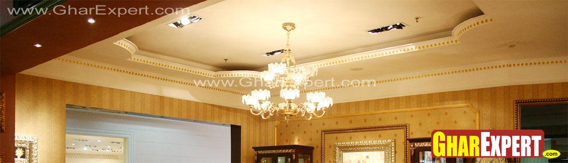 Simple And Smart Pop False Ceiling Design Gharexpert