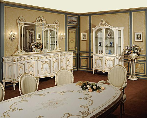 French Dining Room Area with W....