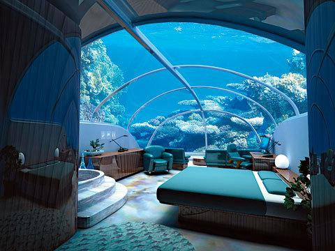 under water bedroom...
