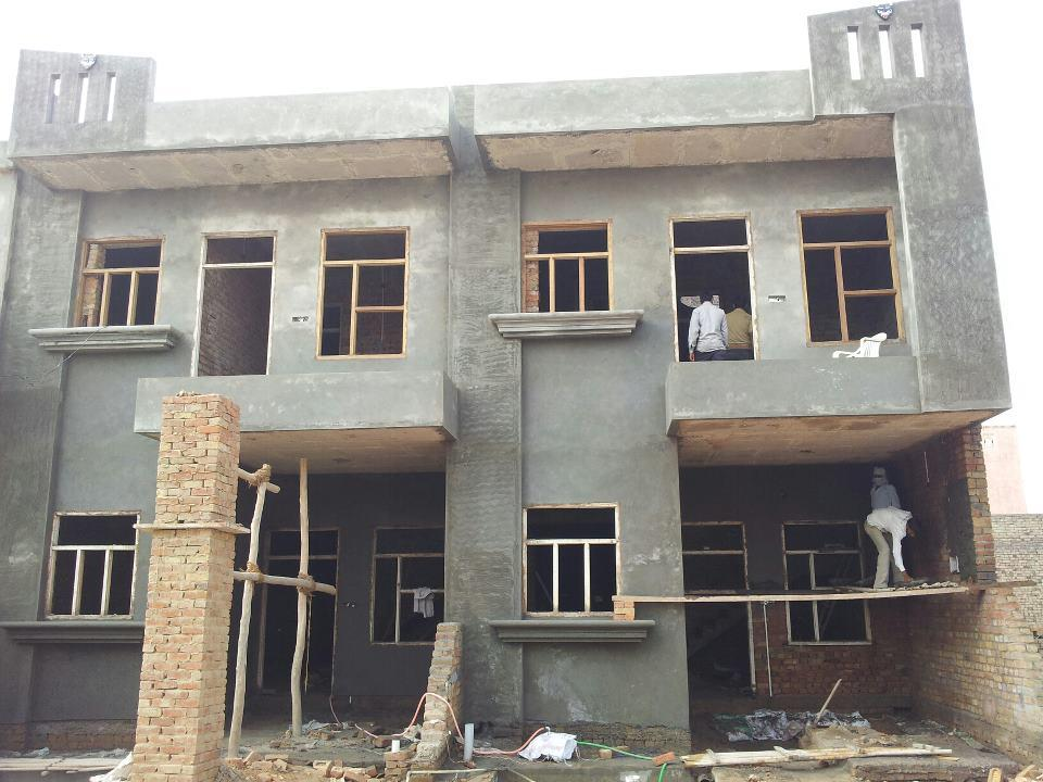 Picture Of Twin Home Under Construction Front House