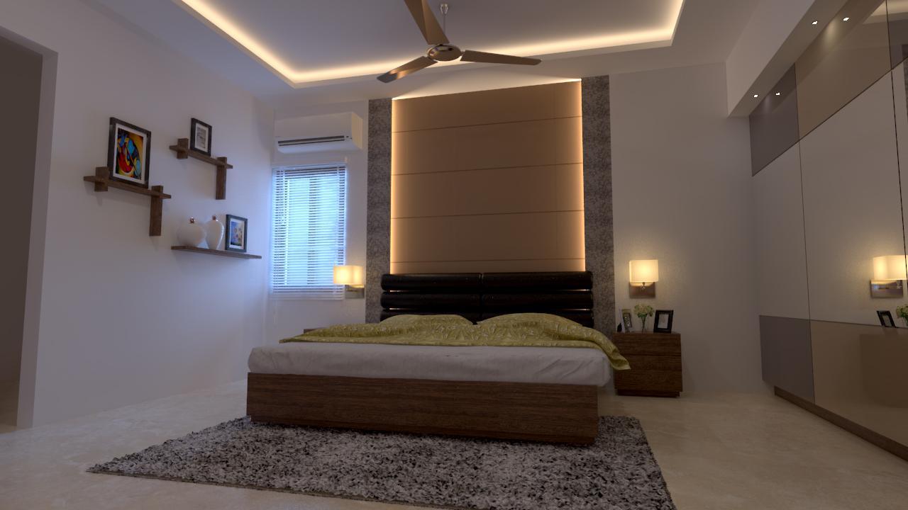 bedroom and false ceiling desi....