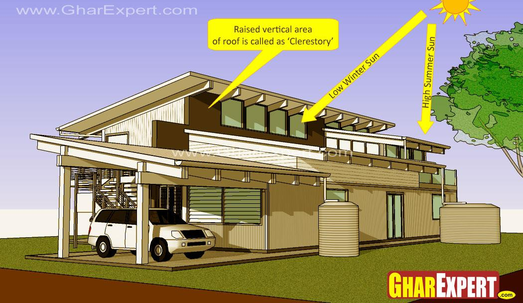 Clerestory roof gharexpert for Clerestory house designs