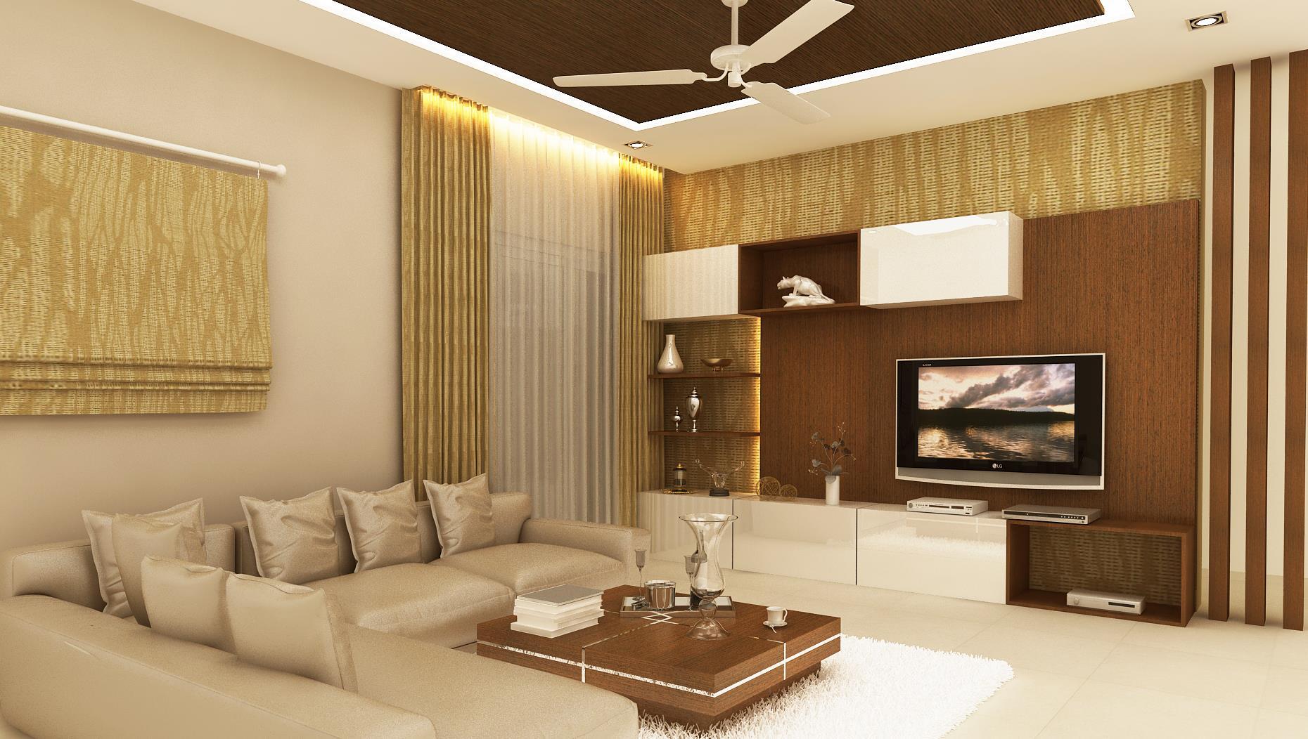 villa living room interior