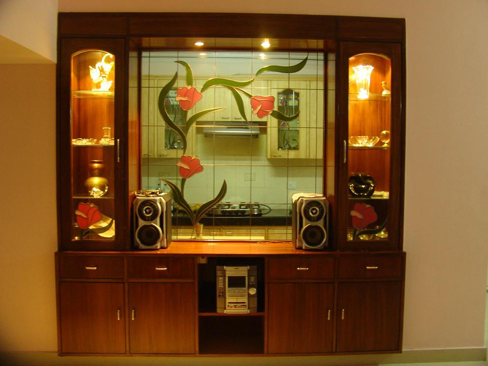 Crockery cupboard gharexpert for Interior cupboard designs for hall