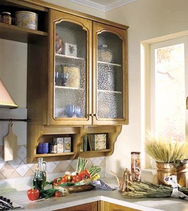 Glass cabinets look nice
