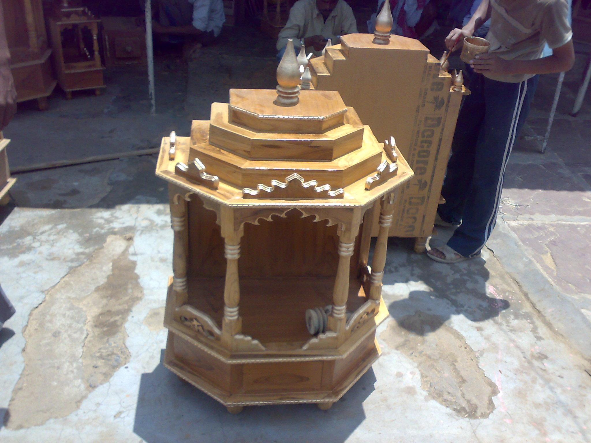 Wooden Temple Design GharExpert