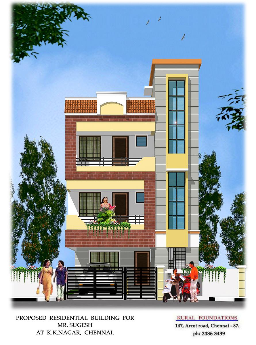 3d front elevation design joy studio design gallery for Small house elevation in india